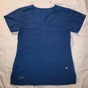 Grey's Anatomy Scrub Top in Galaxy Blue size Med